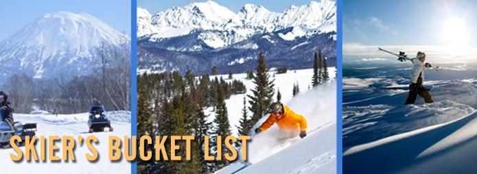 the skier's bucket list