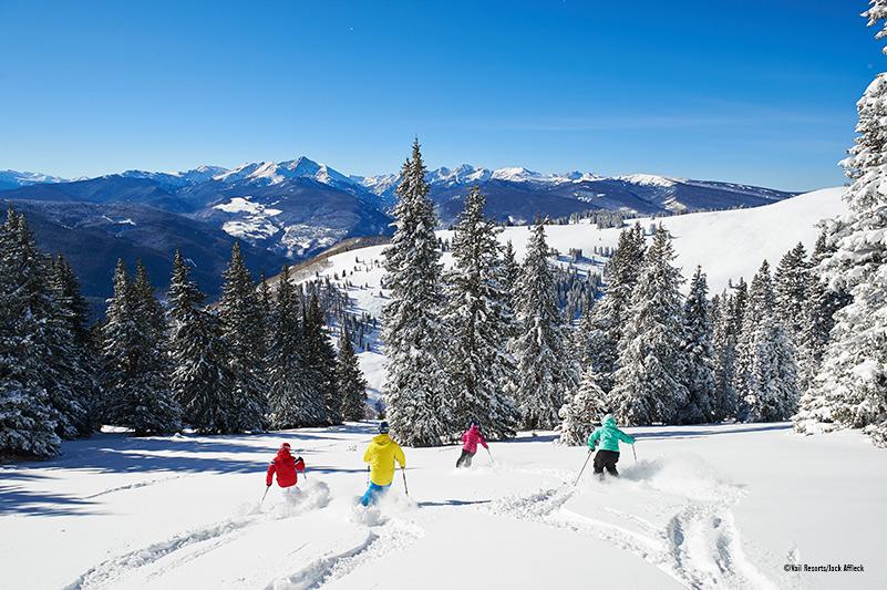 Vail-powder-skiers-credit-Vail Resorts_Jack_Affleck, Vail ski resort, USA ski holidays