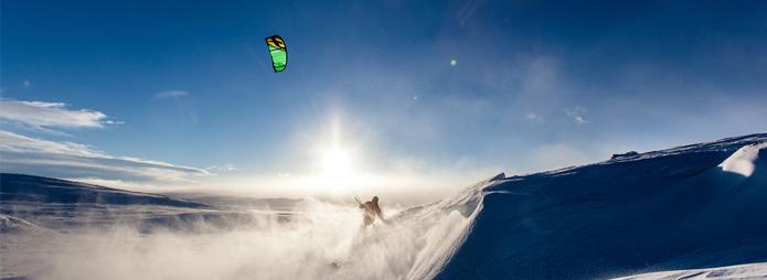 Ski-Kiting