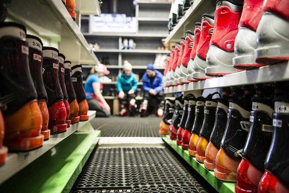 Ski Rental Shop interior
