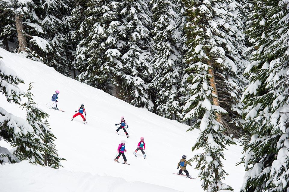 Kids ski school, Whistler
