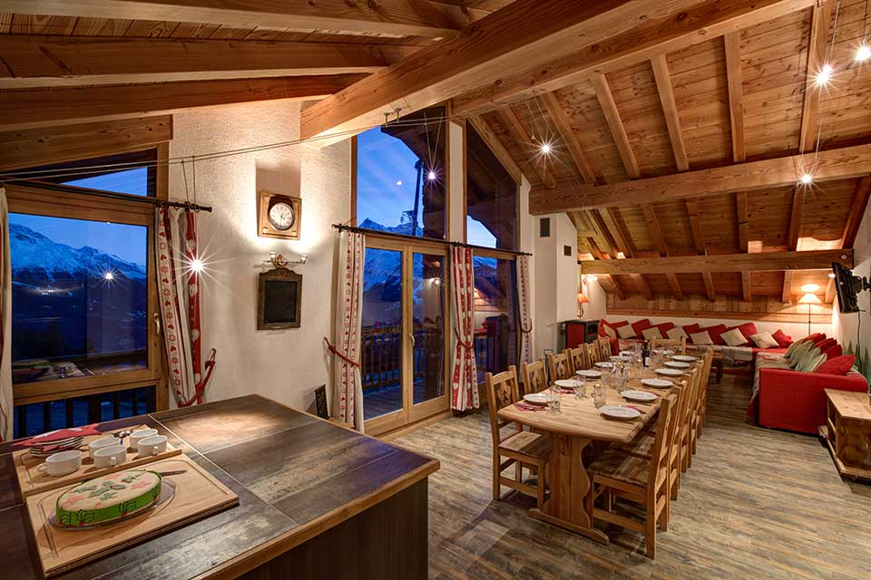 Chalet Daniel, la Rosiere - A chalet with a view of nearby Les Arcs