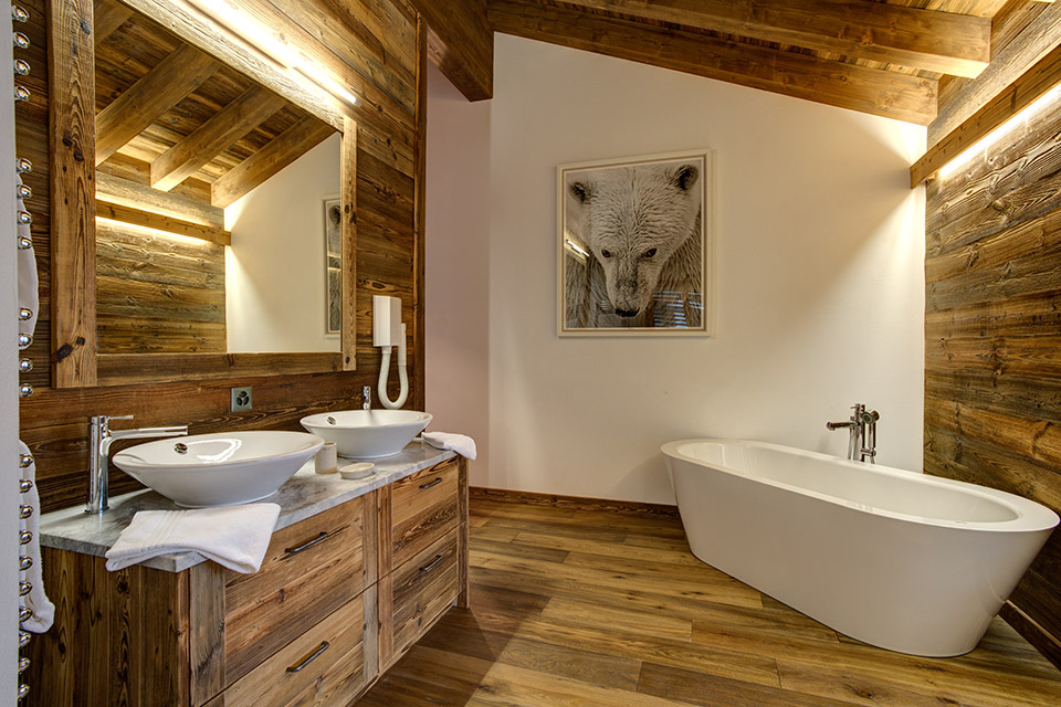 Luxury bathrooms at Chalet Altair, Nendaz