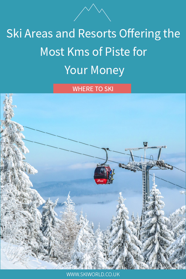 Ski Areas and Resorts Offering the Most Kms of Piste for Your Money