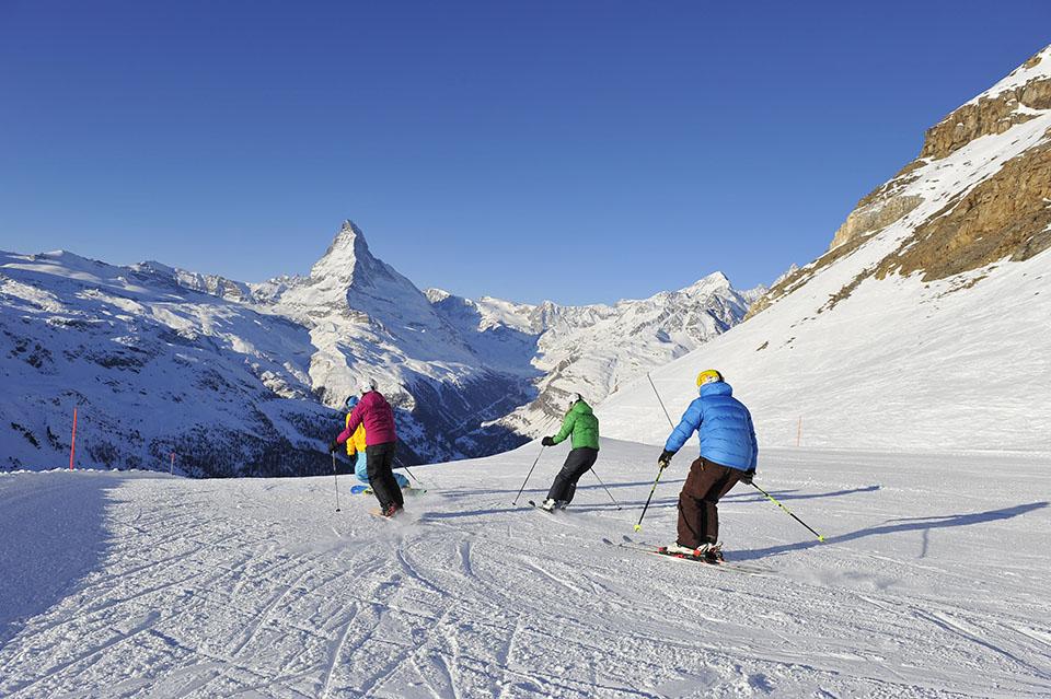 Skiing in Zermatt, Switzerland; photograph; Michael Portmann