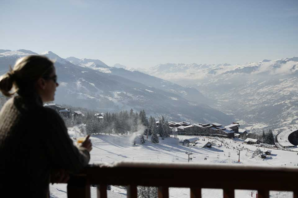 Chalet Guillaume, La Plagne - View from balcony