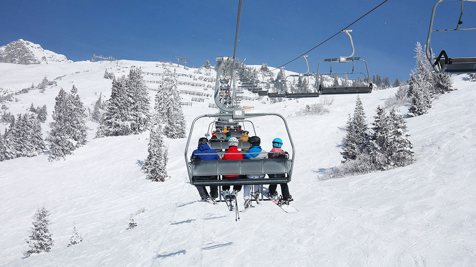 Ski Lifts in the winter