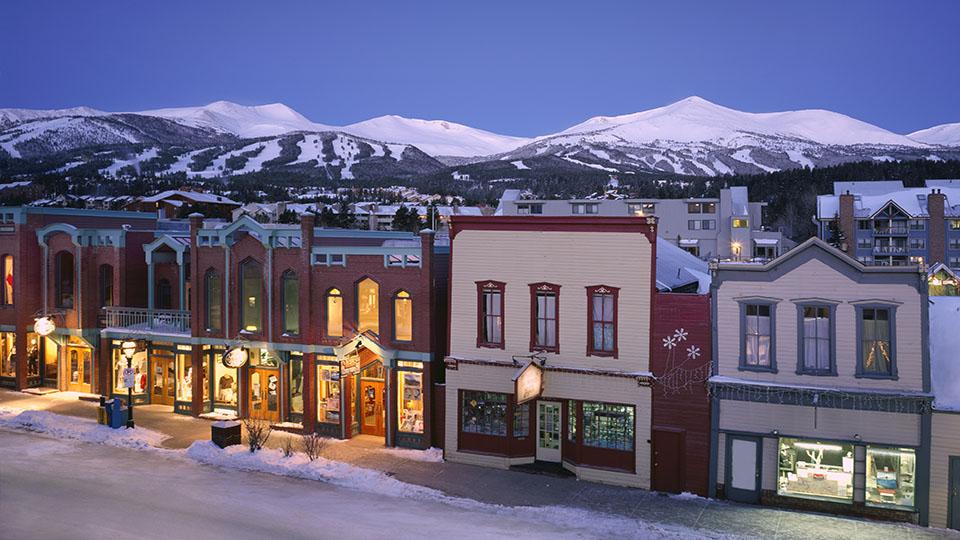 Breckenridge Main Street in winter ©Jeff Scroggins