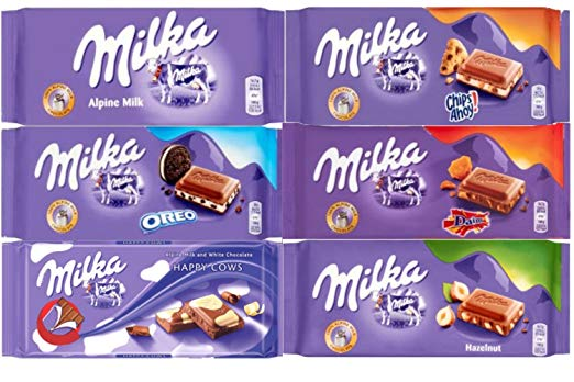 Top Mountain Snack -Milka Chocolate Bars