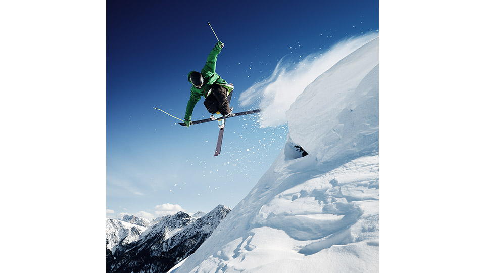 skier jumping - HP -540PX