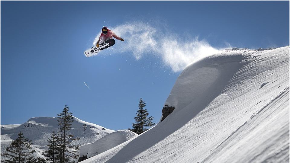 Snowboarder in Avoriaz