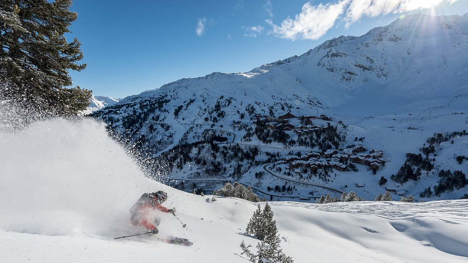 Skier in Les Arcs