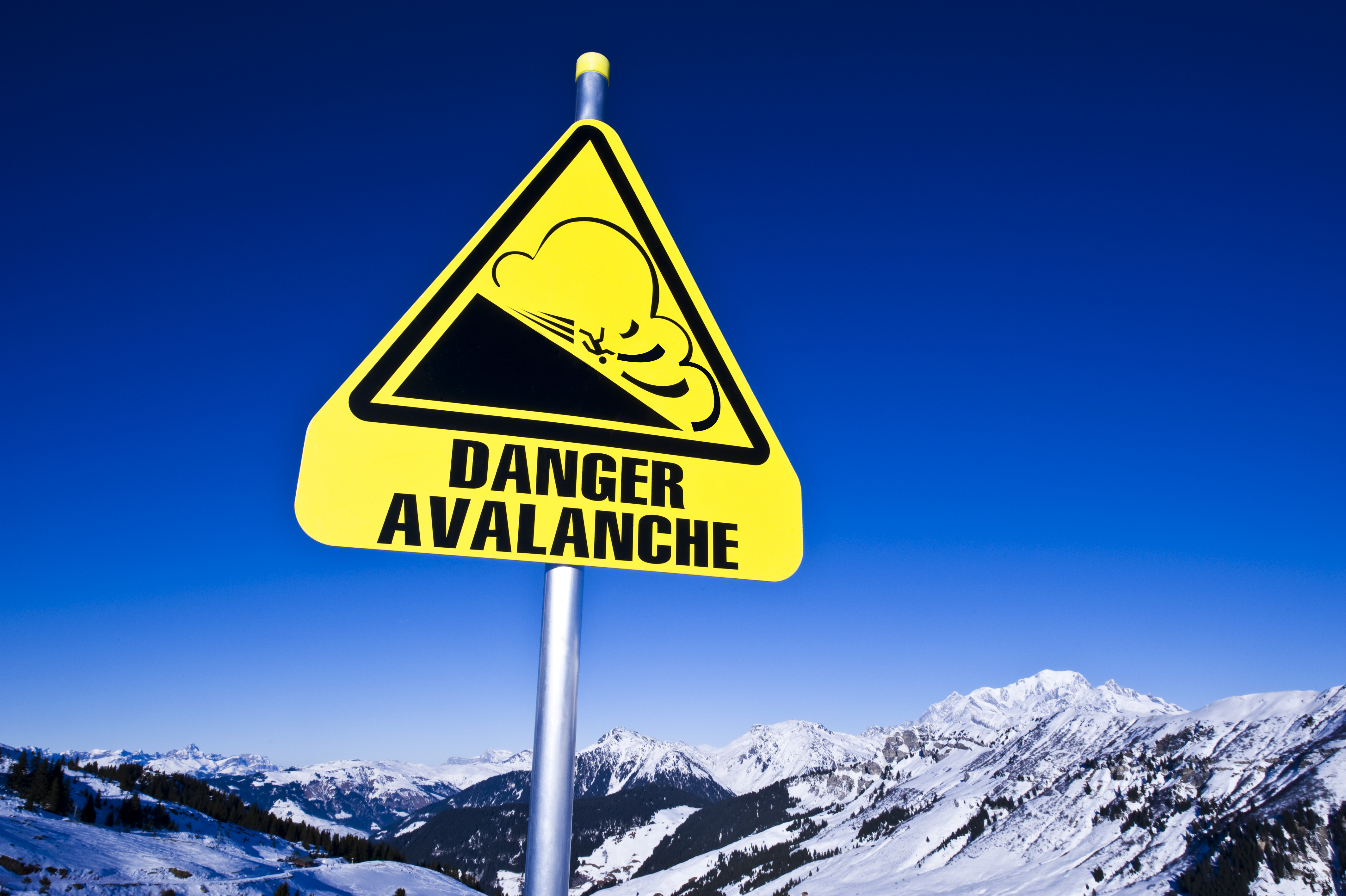 Danger Avalanche sign