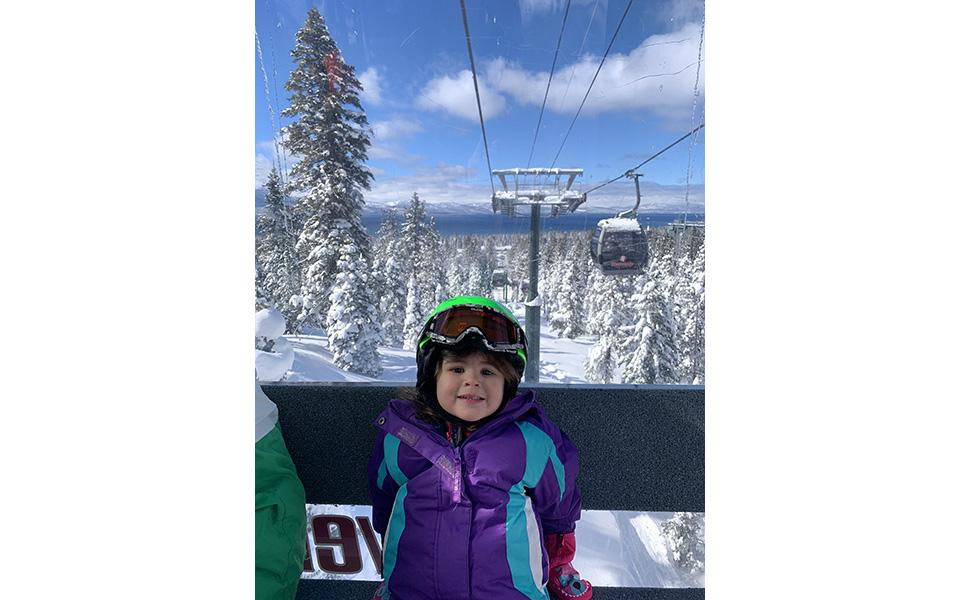 Small child in a gondola