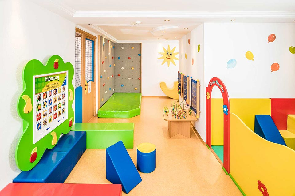 Kids play area in Alpenroyal Grand Hotel, Selva Val Gardena