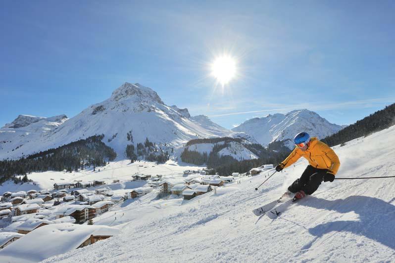 Piste skiing in Lech. Image via Lech Zürs Tourism Sepp Mallaun