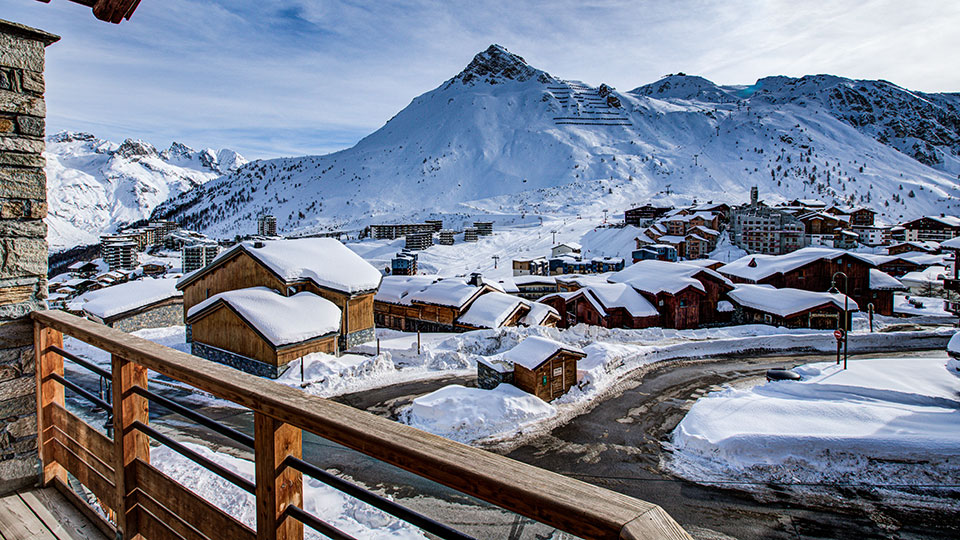 View from Chalet Violetta, TIgnes - Skiworld
