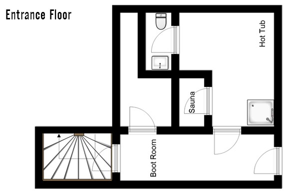 Floor plan of chalet Annapurna 1, Entrance Floor - ski chalet in Tignes, France