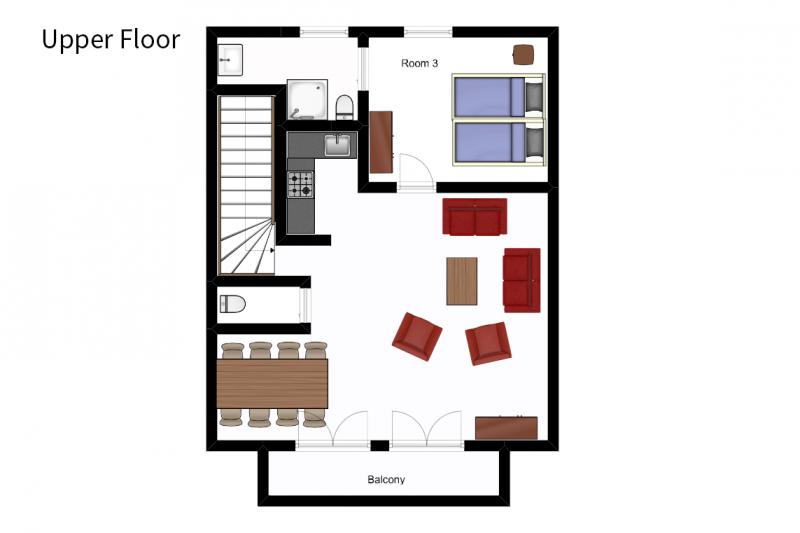 Upper floor - floorplan