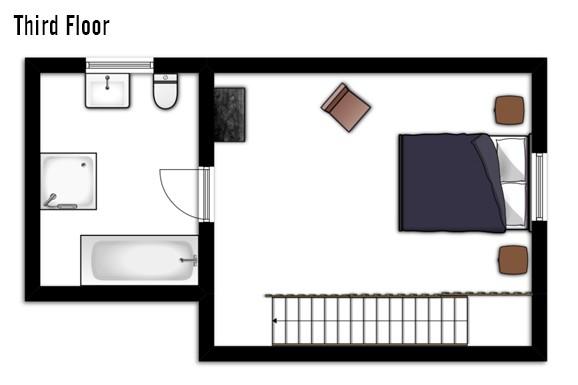 Floor plan of Chalet Chamois Volant, Third Floor - Les Deux Alpes, France