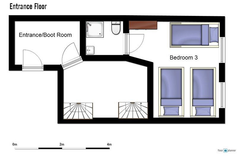 Floor plan of chalet Charmant entrance floor - ski chalet in La Plagne, France