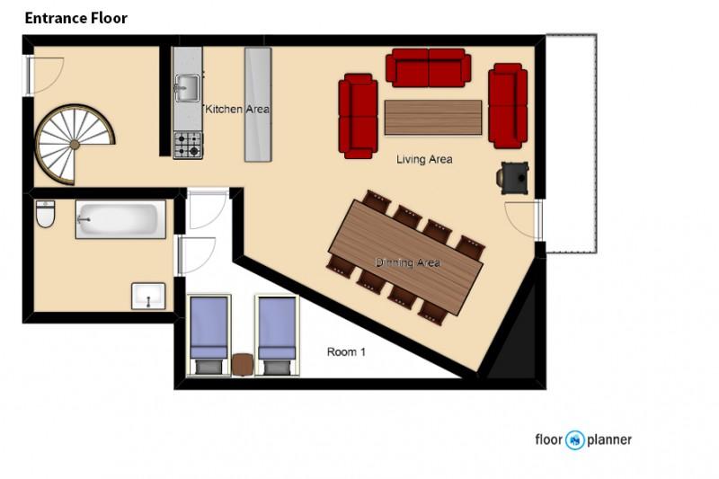 Ground Floor Floorplan - Chalet Clementine, Val Thorens