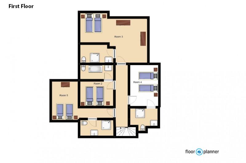 First Floor Floorplan - Chalet Clementine, Val Thorens