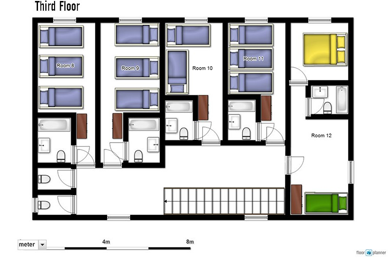 Floor plan of Chalet Lores, third floor - ski chalet in Val d'Isere, France