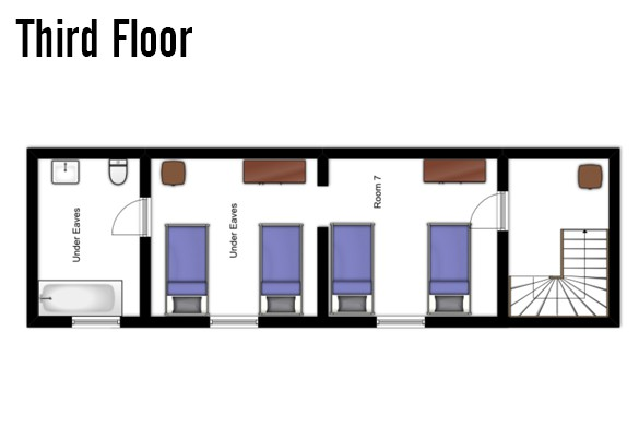 Floor plan of Chalet Alice, Third Floor - Ski Chalet in Les Deux Alpes, France