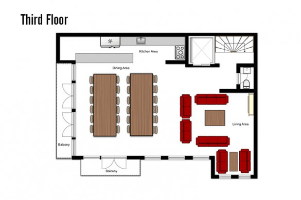 oor plan of Chalet Annapurna II, third floor - ski chalet in Tignes, France