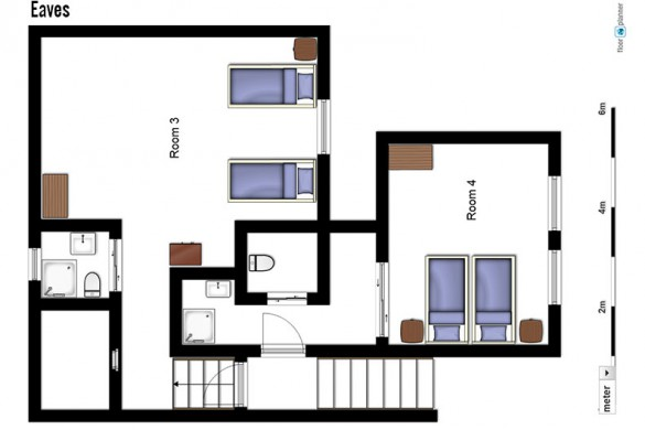 Floor plan of Chalet Annina, eaves - ski chalet in Tignes, France