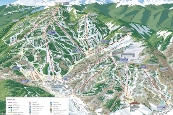 Beaver Creek Piste Map