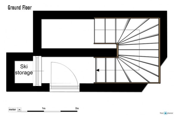 Floor plan of Chalet Cerise, ground floor - ski chalet in Val Thorens, France