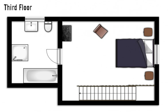 Floor plan of Chalet Chamois Volant, Third Floor - Les Deux Alpes, France