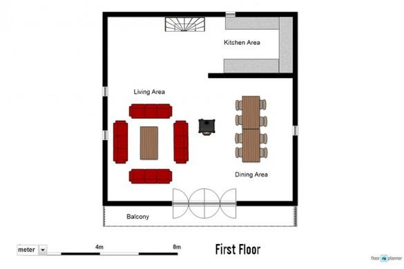 Floor plan of chalet Cicero, first floor - ski chalet in Les Arcs, France