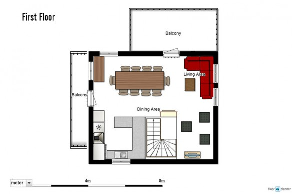 Floor plan of chalet Ecureuil de Neige, first floor - ski chalet in Courchevel, France