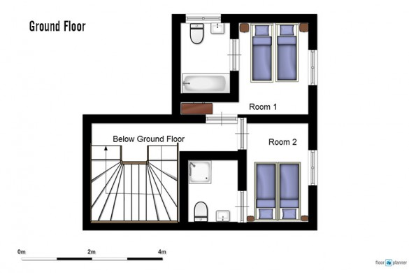 Floor plan of chalet Ecureuil de Neige, ground floor - ski chalet in Courchevel, France