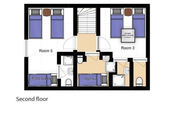 Floor plan of Chalet Elodie, second floor