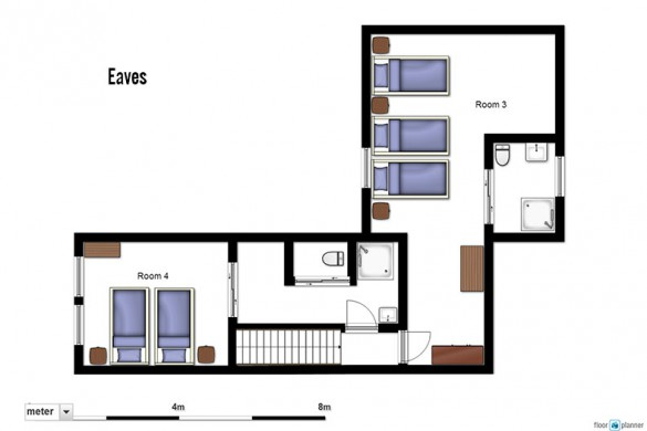 Floor plan of Chalet Escamillo, eaves - ski chalet in Tignes, France