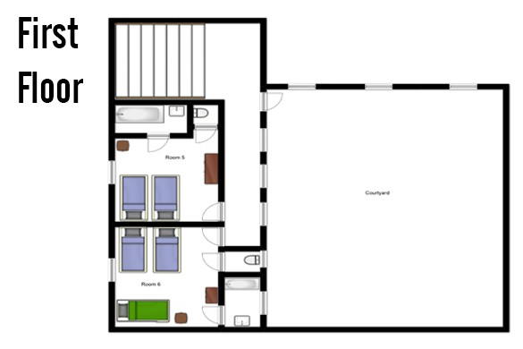 Floor plan of Chalet Les Eterlous, First Floor - Ski Chalet in Alpe d'Huez, France