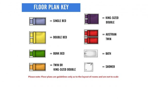 Floor plan key