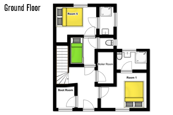 Floor plan of Chalet Joly, Ground Floor - Ski Chalet in La Plagne, France