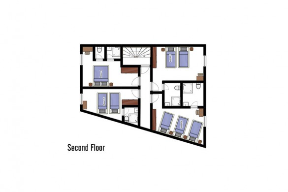 Floor plan of chalet Les Rouses, second floor - ski chalet in Les Deux Alpes, France