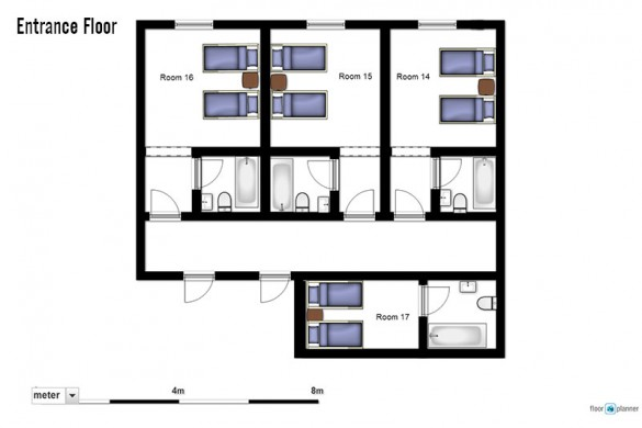 Floor plan of chalet Natalia I, entrance floor - ski chalet in Meribel, France