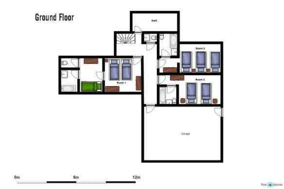Floor plan of Chalet Premiere Neige, ground floor - ski chalet in Val d'Isere, France