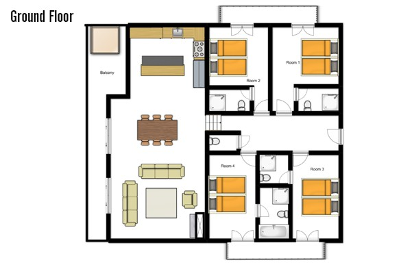 Floor plan of Chalet Rosablanche, Nendaz
