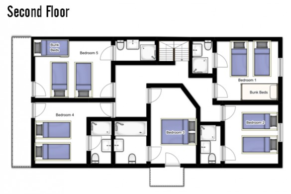 Floor plan of Chalet Roussette, Second floor