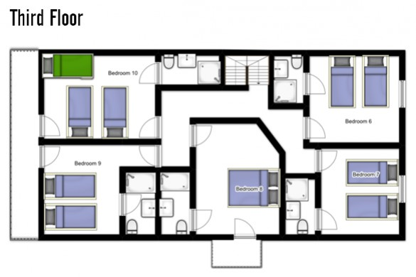 Floor plan of Chalet Roussette, Third floor