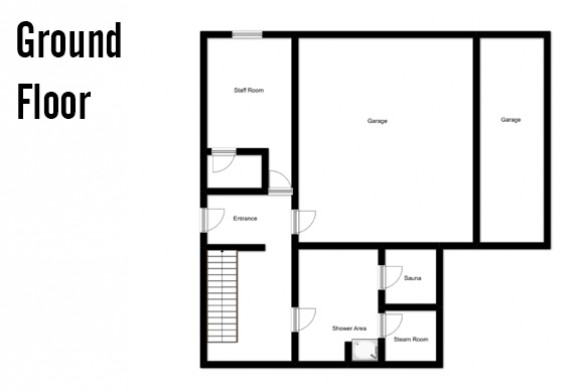 Floor plan of Chalet Sarenne, Ground Floor - Ski Chalet in Alpe d'Huez, France