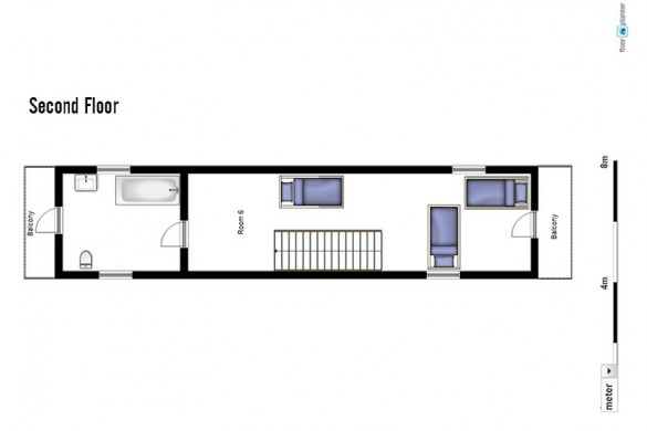 Floor plan of Chalet Schlosskopf, second floor - ski chalet in St Anton, Austria
